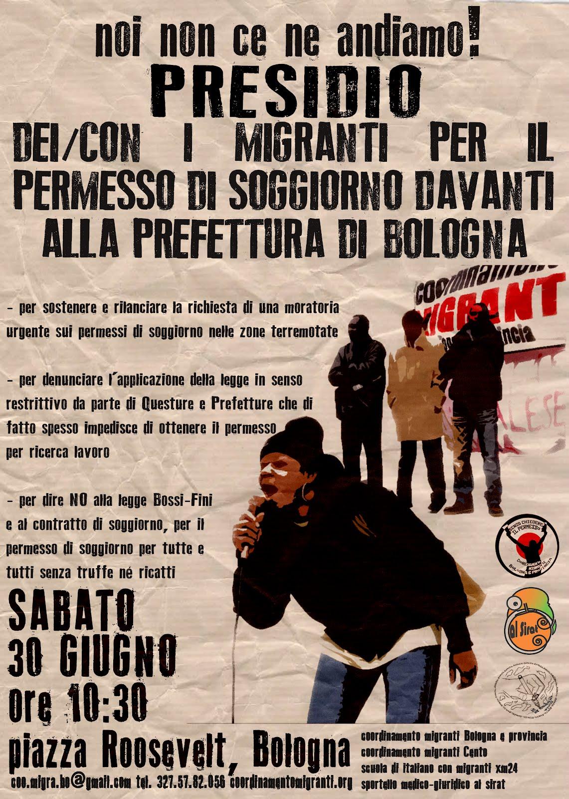 30 giugno noi non ce ne andiamo presidio dei migranti a for Regolarizzare badante senza permesso di soggiorno