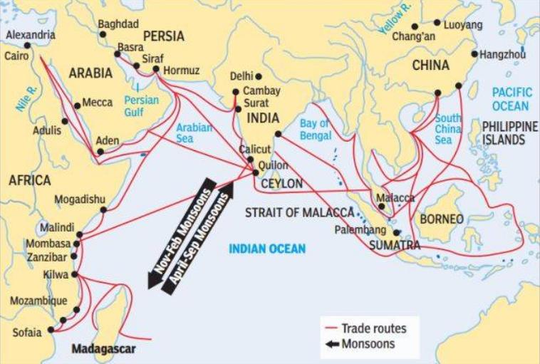 Cina e India mappa2