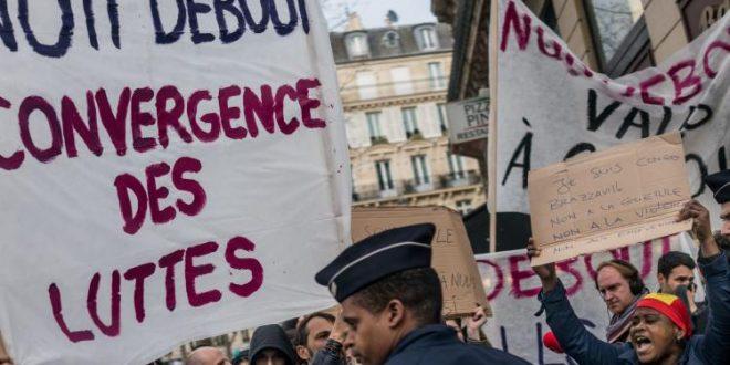 Scene di movimento di classe in Francia