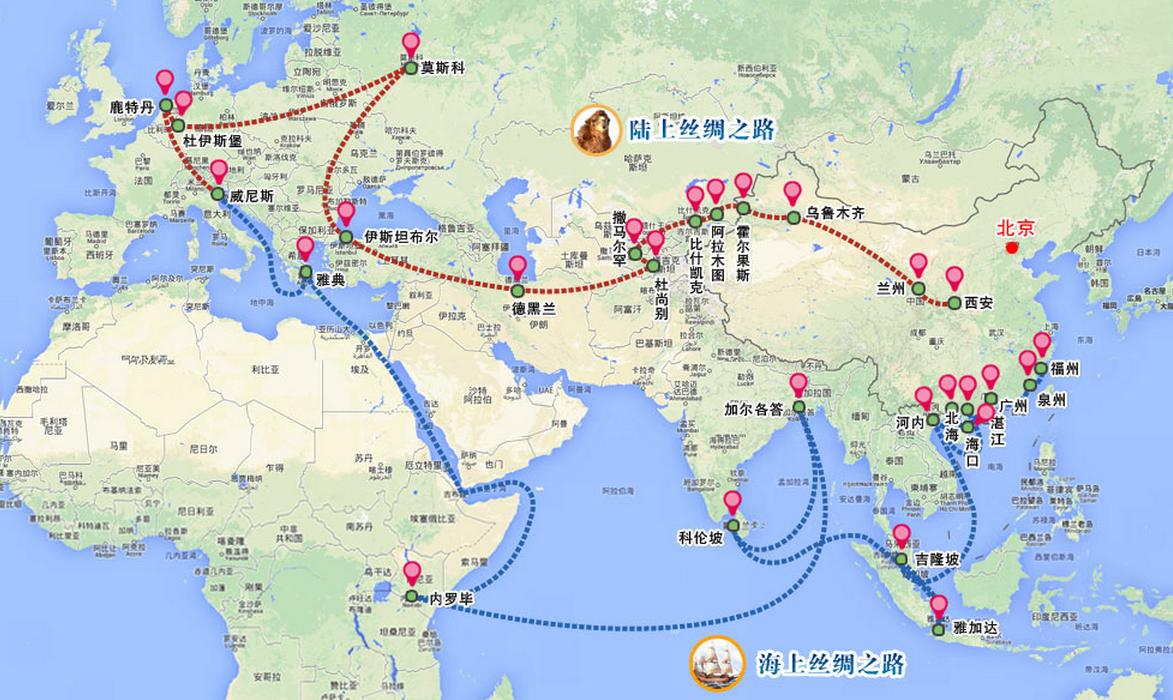 Cina e India mappa1